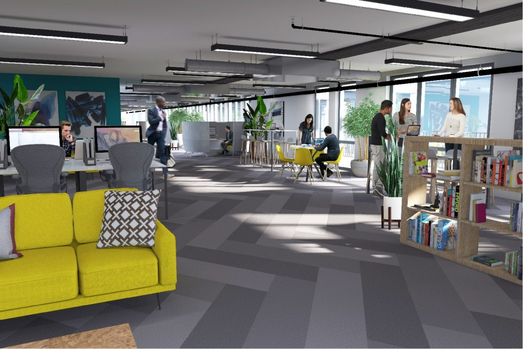 CGI Image Of 9th Floor Office Space