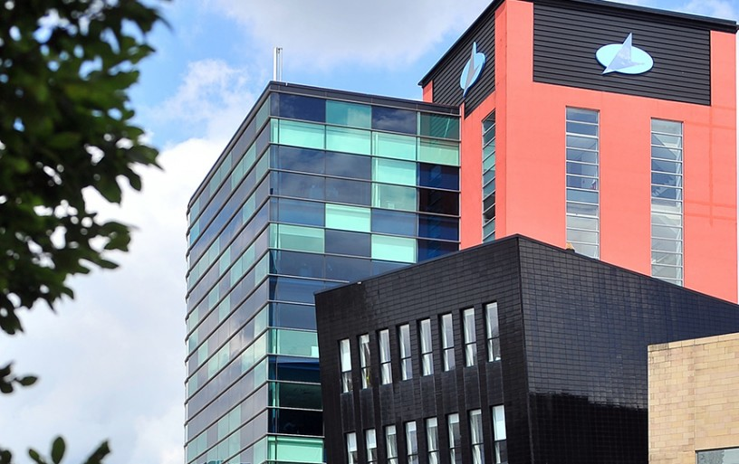 Digital World Centre office building in Salford Quays
