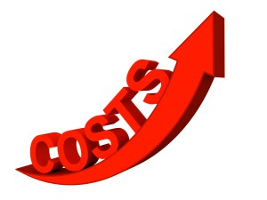 Quality 3d render of rising costs concept