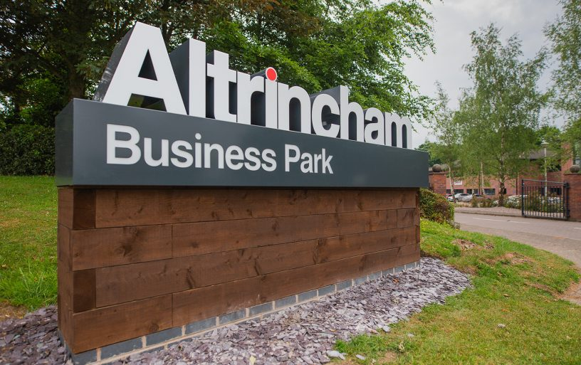 Altrincham Business Park Sign